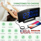 Mpow Humidity Temperature Alarm Clock Weekend Mode 6.5 Curved-Screen Dual Alarm