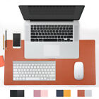 Leather Large Mouse Keyboard Pad Computer Gaming Desk Top Mat PC Mousepad 4Color