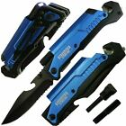 EDC Spring Assisted LED Multifunction Folding Pocket Knife Survival MULTI TOOL