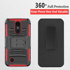 For LG X Charge / Fiesta 2 / X Power 2 / Belt Clip Case+Tempered Glass Screen