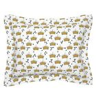 Glitter Crowns And Diamonds Kids Faux Crown King Queen Pillow Sham by Roostery image