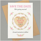 Wedding Save The Date Magnets PERSONALISED Floral Wooden Save the Date Hearts