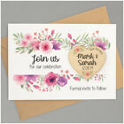 PERSONALISED Wooden Save The Date Magnets Floral Vintage Wedding Invitations