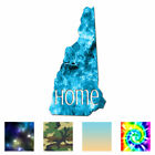 New Hampshire Home State - Decal Sticker - Multiple Patterns & Sizes - Ebn3831