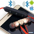 WIRELESS EARPHONES SWEATPROOF BLUETOOTH HEADPHONES SPORT GYM FOR iPHONE SAMSUNG