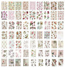 Rice Paper for Decoupage Scrapbook Craft A4 sheet pink and floral sheets