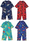 Kids Boys Dinosaur, Shark, Animal Sun Protection UV 40 Swimsuit 6 Months - 6 Yrs
