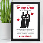 PERSONALISED Father of the Bride Wedding Thank You Gifts for Dad Daddy Step Dad