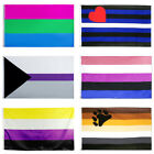 3x5ft Rainbow Gay Pride Bisexual Flag Lgbt Peace Asexual Banner Home Room Decor