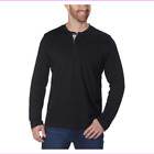 Kenneth Cole Men's Long Sleeves Henley 3 button Placket T Shirt