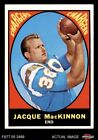1967 Topps #124 Jacque MacKinnon Chargers EX/MT $2.9 USD on eBay