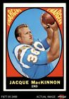 1967 Topps #124 Jacque MacKinnon Chargers EX/MT $2.65 USD on eBay