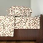 Pink And Gold Glitter Leopard Print 100% Cotton Sateen Sheet Set by Roostery image