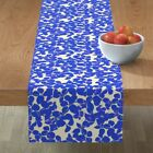Table Runner Botanical Silhouette Autumn Colonial Fall Leaves Cotton Sateen
