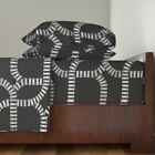 Trains Railway Enthusiast Railroad 100% Cotton Sateen Sheet Set by Roostery image