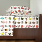 Horse Racing Silks American Triple 100% Cotton Sateen Sheet Set by Roostery image
