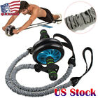 Ab Roller Wheel Pull Rope Waist Abdominal Slimming Fitness Exercise Equipment image