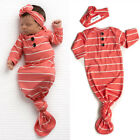 US Baby Sleeping Bags Newborn Infant Blanket Swaddle Wrap Gown 2PCS Outfits Set