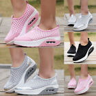 Women Walking Slip-On Running Shoes Sport Air Cushion Sneakers Breathable Mesh