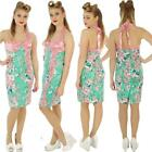 VOODOO VIXEN GREEN / PINK WIGGLE PENCIL ROCKABILLY VINTAGE DRESS  ALTERNATIVE
