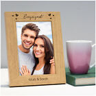 PERSONALISED Engagement Gifts Newly Engaged Couples Engraved Wooden Photo Frame