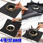 Внешний вид - 4/8/12PCS Reusable Gas Range Stove Top Burner Protector Liner Cover For Cleaning