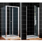 Bifold/Pivot Shower Enclosure And Tray Door Glass Screen Cubicle Side Panel