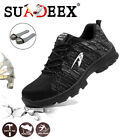 Womens Safety Shoes Mesh Steel Toe Lightweight Work Cap Boots Hiking Trainers US