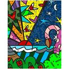 "Britto ""Real"" Hand Signed Limited Edition Giclee on Canvas; Authenticated"