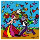 "Britto ""I Love You"" Hand Signed Limited Edition Giclee on Canvas; COA"