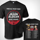 Jason Aldean With Kane Brown Ride All Night Tour 2019 T shirt S to 3XL MEN'S  image