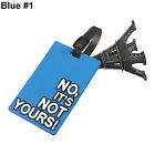Suitcase Luggage Tags Name Address ID Holder Silicone Identifier Label Novelty