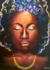 Ebony Lady Limited Edition A4 A3 A2 PRINT of Original Oil Painting