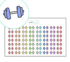 Fitness Planner stickers, health and fitness