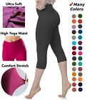 Extra Soft Capri Leggings with High Wast - 20  Colors - One Size and Plus Size