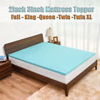 Cooling Gel Memory Foam Bed Mattress Pad Cover Topper Queen King Full Twin XL US image