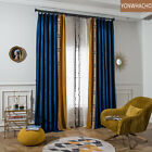 High-grade Solid Stitching velvet blue cloth blackout curtain panel B525