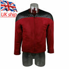 Cos Star Trek The Next Generation Captain Picard Red Duty Uniform Jacket Costume on eBay