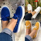 1x Women's Lady Casual Lace Up Flat Sneakers Trainers Slip-on Loafers Shoes Size