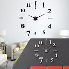 Big Wall Clock 3D Decals Roman Numbers Unique Stickers Modern Home Office Decor
