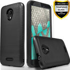 For Cricket ICON / WIKO RIDE Case, Shockproof Cover+Tempered Glass Protector