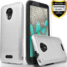 For WIKO RIDE Phone Case, Shockproof Cover+Tempered Glass Screen Protector