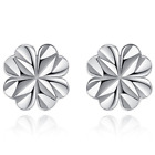 Womens Girls Stud Earrings 925 Sterling Silver Plated Round Small Ear Jewellery