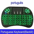 Mini Wireless Keyboard English Russian Gamer Remote Control Touchpad Android
