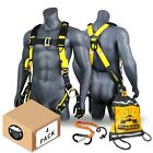 KwikSafety SUPERCELL Safety Harness ANSI Fall Protection Tongue Buckle 3D Ring