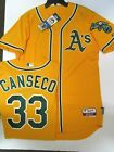 JOSE CANSECO OAKLAND ATHLETICS AUTHENTIC GOLD JERSEY MAJESTIC SIZE 40 OR 44 on Ebay