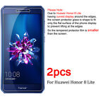 2Pcs Tempered Glass Screen Protector Film For Huawei Honor 8 Lite 7x 8 9 10 Lite