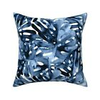 Tropical Paradise Leaves Trees Throw Pillow Cover w Optional Insert by Roostery
