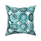 Bohemian Batik Boho Watercolor Throw Pillow Cover w Optional Insert by Roostery