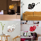 Home Decor 3d Mirror Love Heart Modern Bedroom Hotel Wall Sticker Removable Diy
